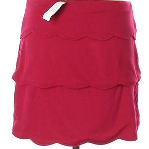 NWT Banana Republic Dark Pink/Red Skirt Size 10